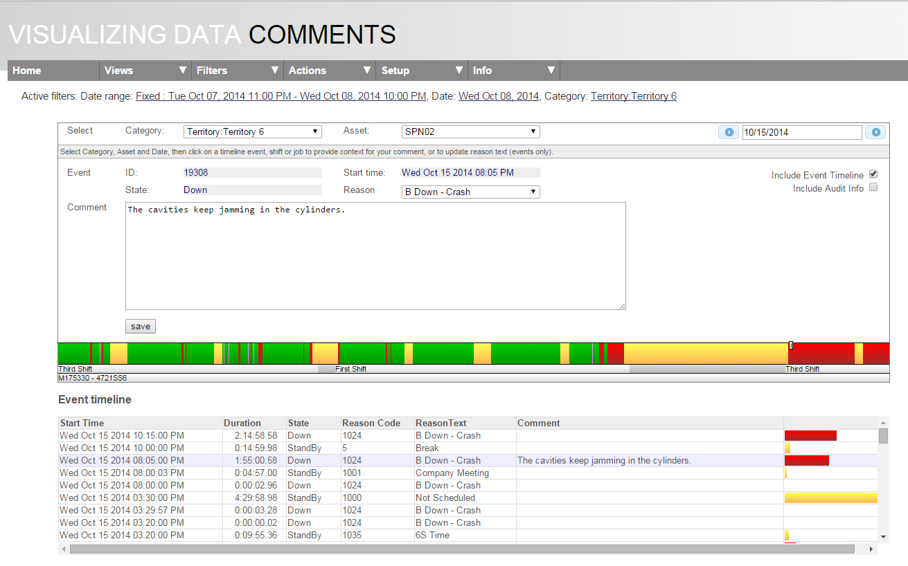 Oee Data Collection Spreadsheet Inside Oee Alert