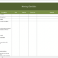 Office Moving Checklist Excel Spreadsheet With Regard To Free Moving Checklist  Excel Templates For Every Purpose