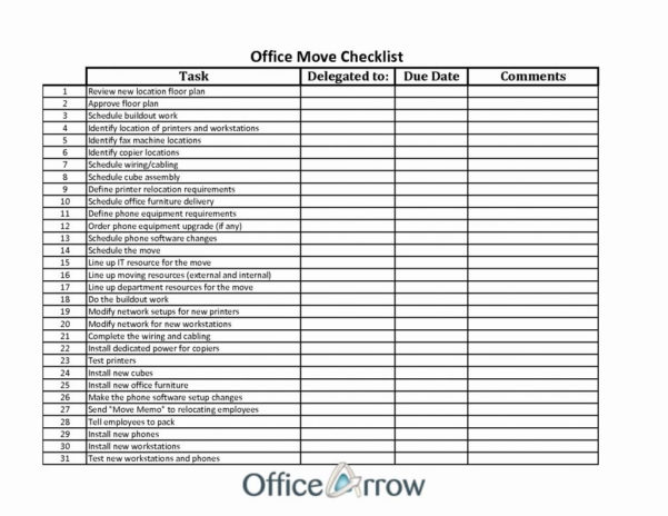 Office Moving Checklist Excel Spreadsheet With Regard To Office Moving Checklist Excel Spreadsheet House Template Uk Free