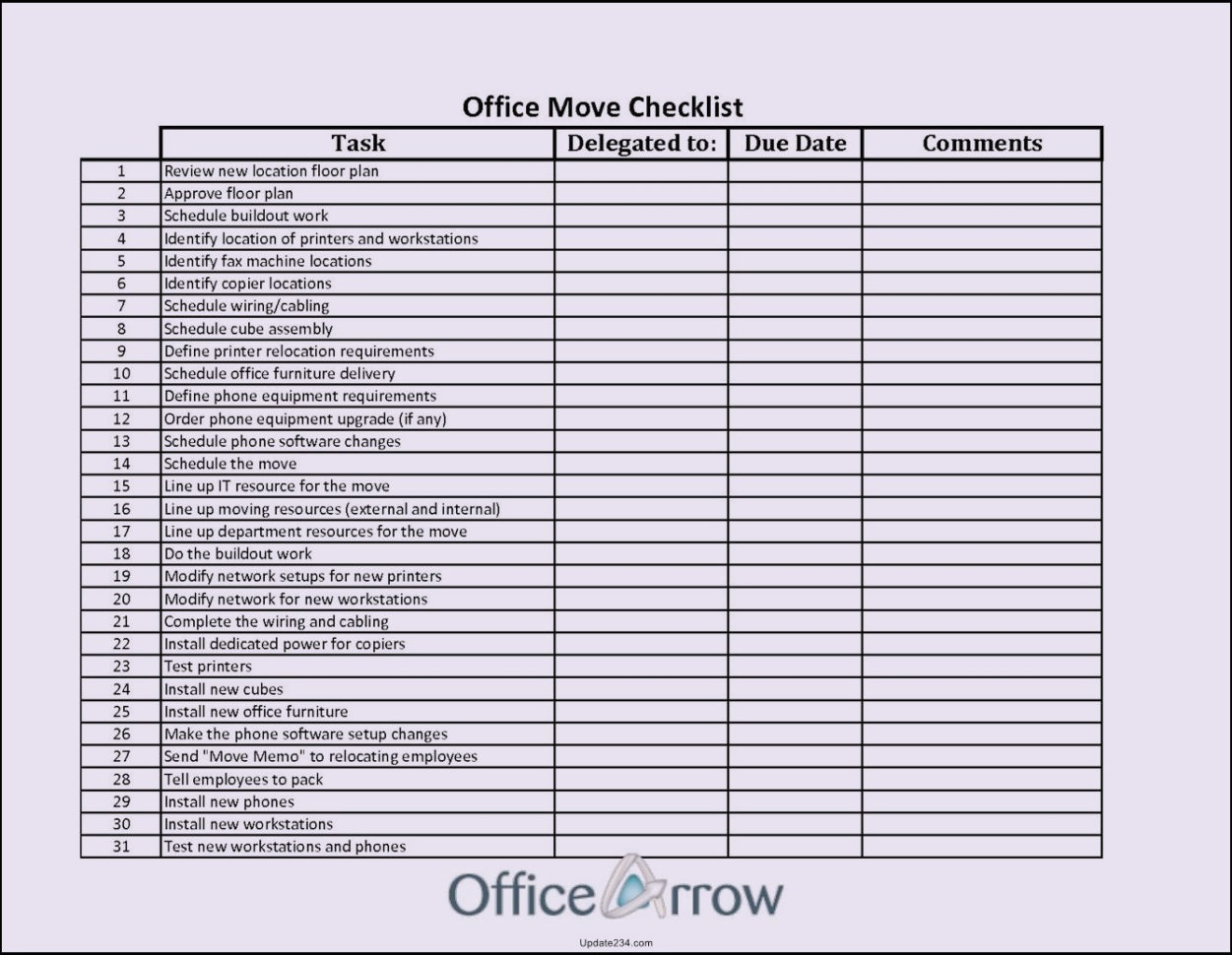 Office Moving Checklist Excel Spreadsheet Within Spreadsheet Moving Checklist Excel Office Move Template On