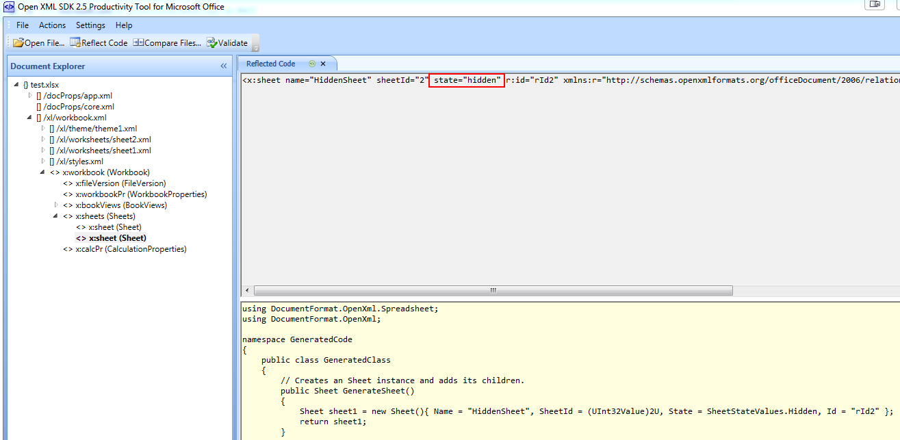 Office Open Xml Spreadsheet In How To Unhide An Excel Sheet Through C# Without Using Interop
