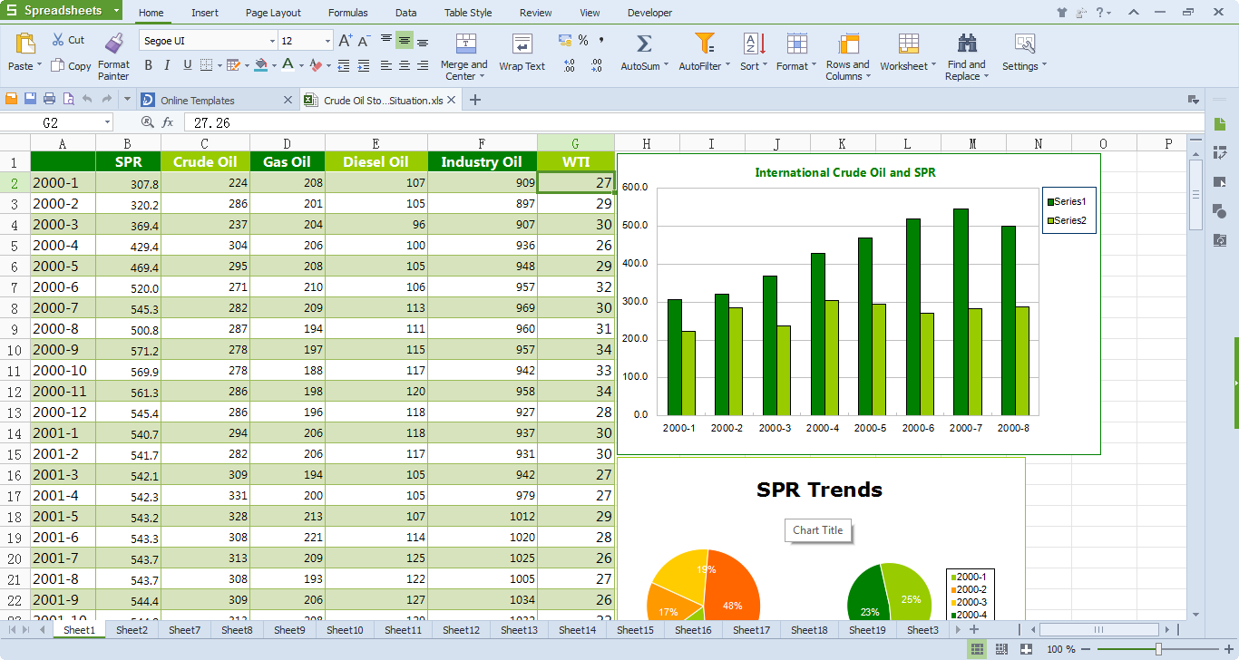 Office Spreadsheet Regarding Wps Office 10 Free Download, Free Office Software  Kingsoft Office