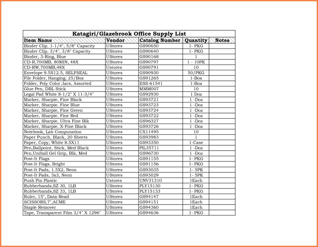 Office Supply Inventory Spreadsheet Inside Office Supplies Inventory Spreadsheet Example Of Furniture Medical