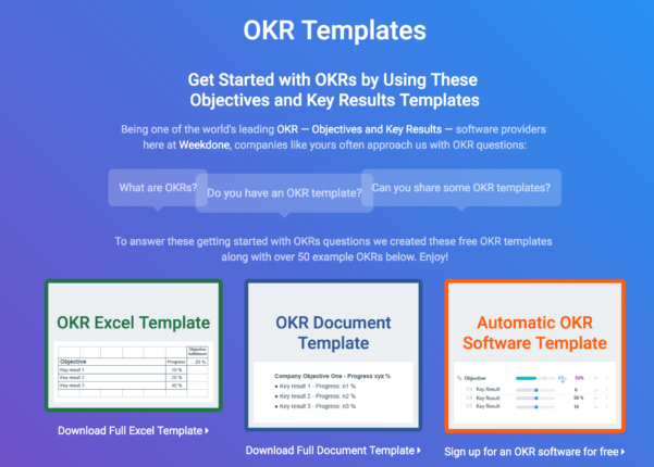 Okr Spreadsheet Template Inside Okr Templates  Examples  How To Write Great Objectives And Key