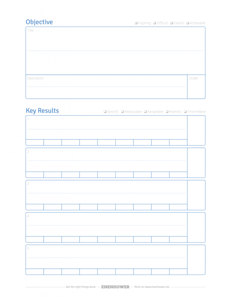 Okr Spreadsheet Template Pertaining To Free Okr Template Pdf  Objective/key Result Quality Check
