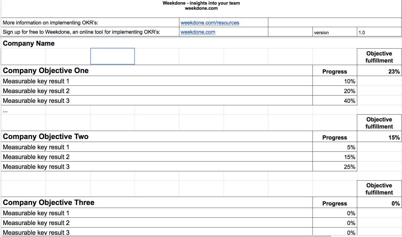 okr spreadsheet template