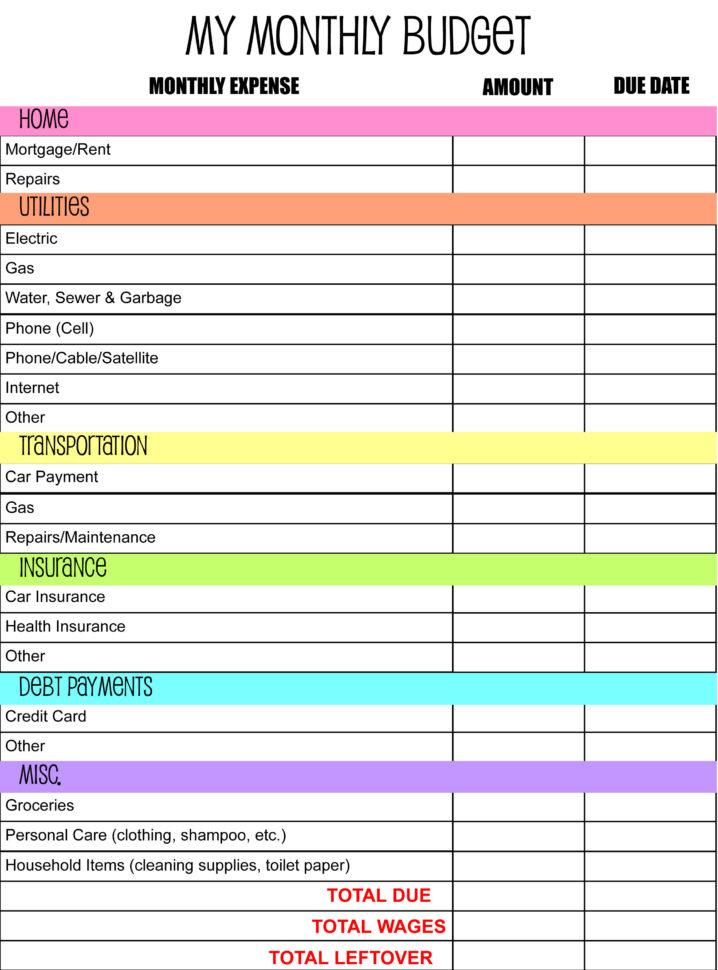 Online Bill Organizer Spreadsheet Inside Free Bill Organizer Printables Monthly Budget Plannerte Printable