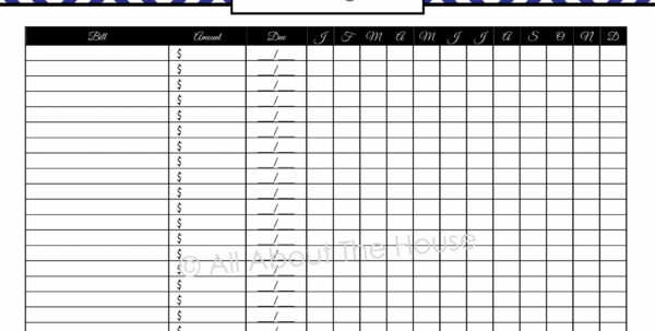Online Bill Organizer Spreadsheet With Bills Organizer Template Free Monthly Bill Organizer Template Online
