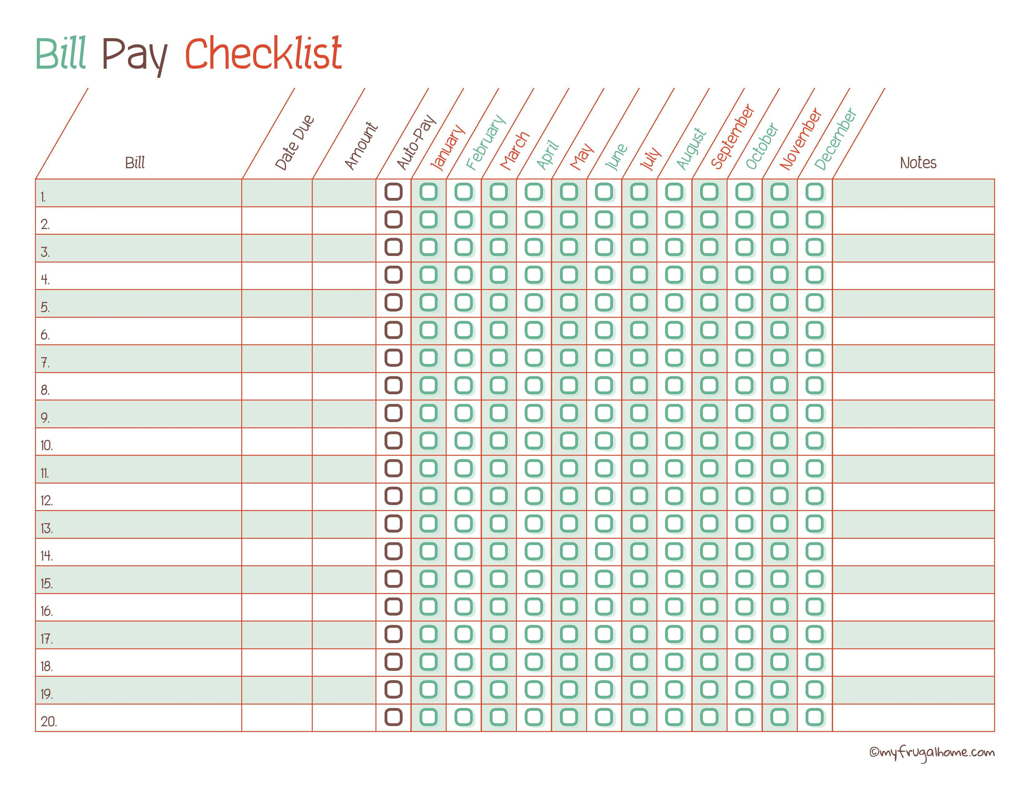Online Bill Organizer Spreadsheet With Regard To Free Printable Bill Pay Calendar Templates