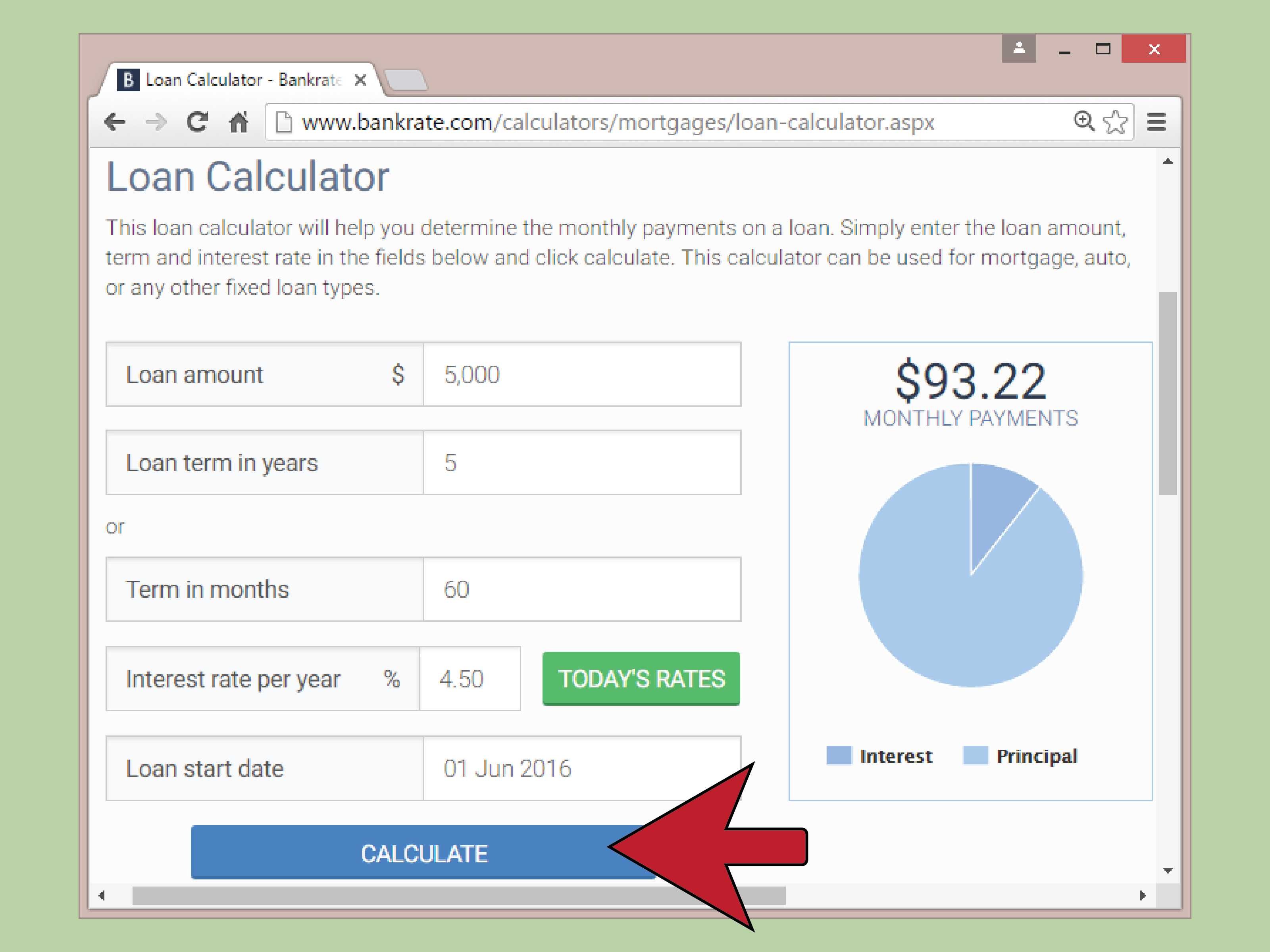 Online Loan Repayment Calculator Spreadsheet Intended For How To Calculate Auto Loan Payments With Pictures  Wikihow