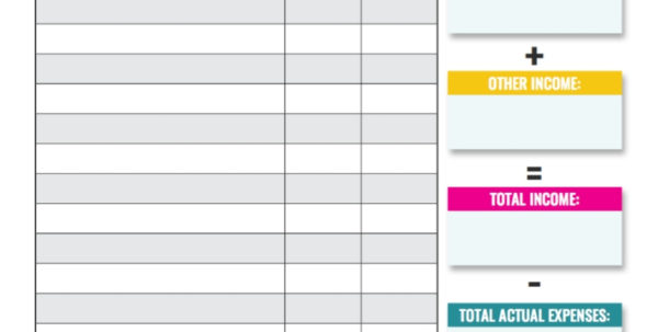 Online Monthly Budget Spreadsheet Inside 10 Budget Templates That Will Help You Stop Stressing About Money