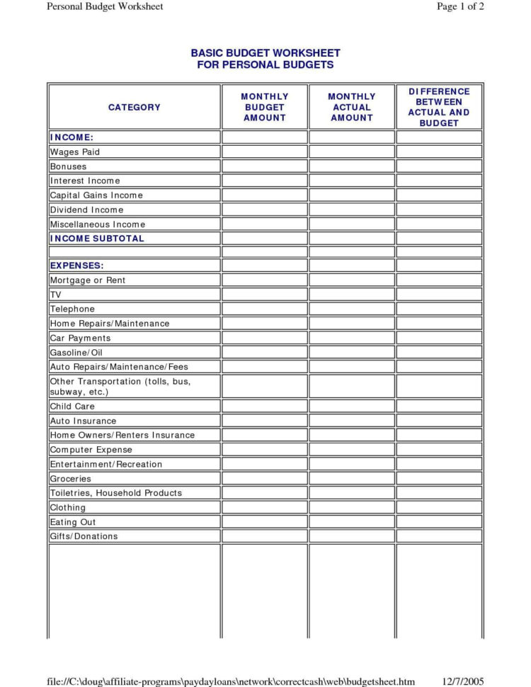 Online Monthly Budget Spreadsheet Pertaining To Online Budget Worksheet Excel And Personal Budget Spreadsheet