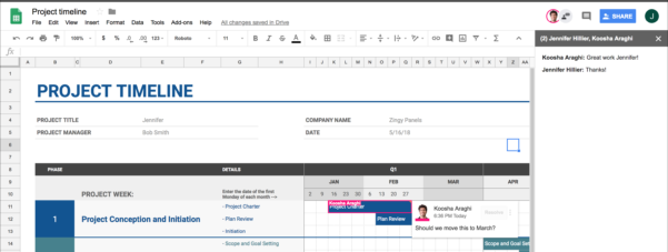 Online Spreadsheet Collaboration Free In 5 Reasons To Upgrade From Excel To Google Sheets  Bettersmb In