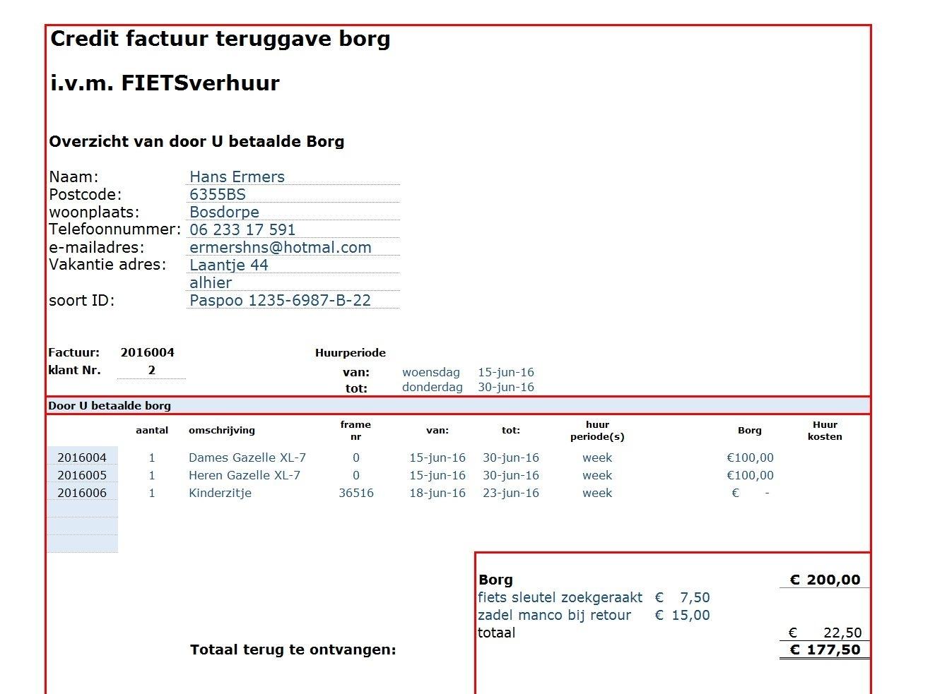 Online Spreadsheet Maken Regarding Verhuur Voorbeelden Excel Spreadsheet.nl Binnen Credit Factuur Maken