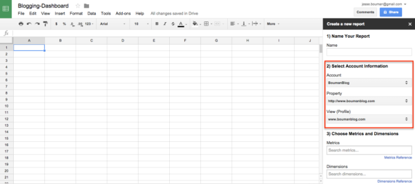 Online Spreadsheet Maken With Regard To How To Create A Custom Business Analytics Dashboard With Google