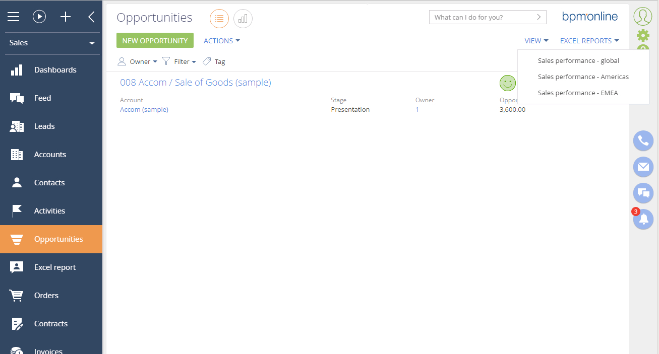 Online Spreadsheets Excel Regarding Excel Reports Builder For Bpm'online  Bpm'online Marketplace