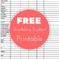 Online Wedding Budget Spreadsheet Inside Example Of Online Wedding Budget Spreadsheet Free Planning Checklist