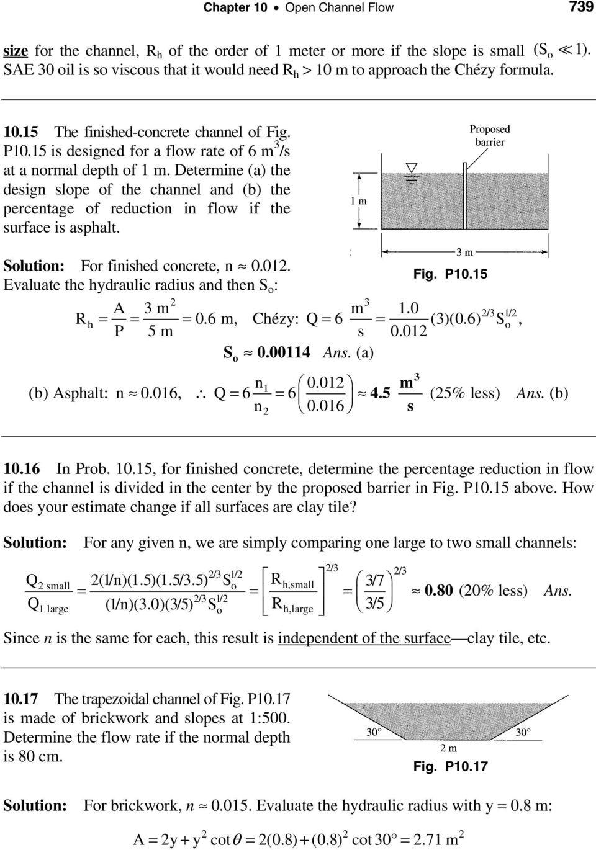 Open Channel Flow Calculator Spreadsheet For Chapter 10 Open Channel Flow  Pdf