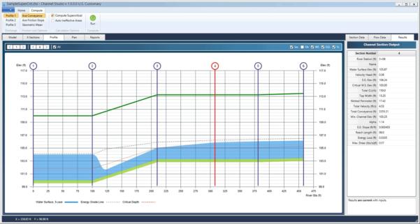 Open Channel Flow Calculator Spreadsheet Throughout Open Channel Hydraulics Software  Channel Studio