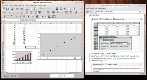 Open Document Spreadsheet Within 4 Spreadsheet Alternatives To Ms Excel  Tuxarena