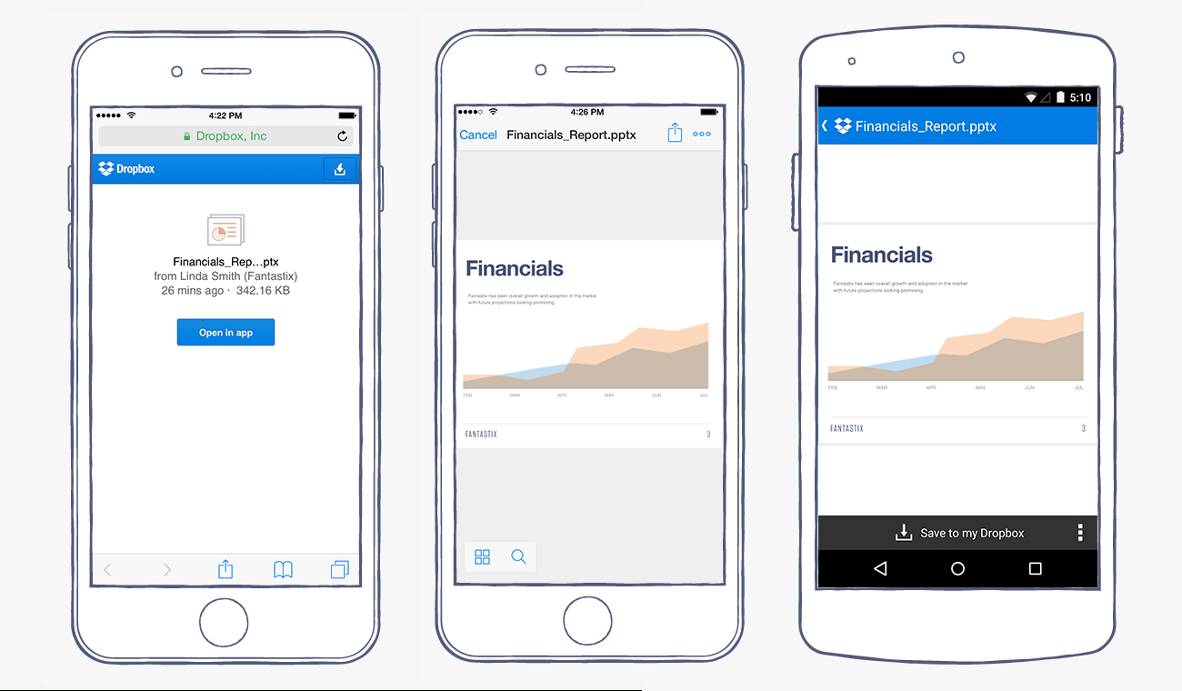 Open Excel Spreadsheet On Iphone Inside Open Shared Links In The Dropbox Mobile App  Dropbox Blog