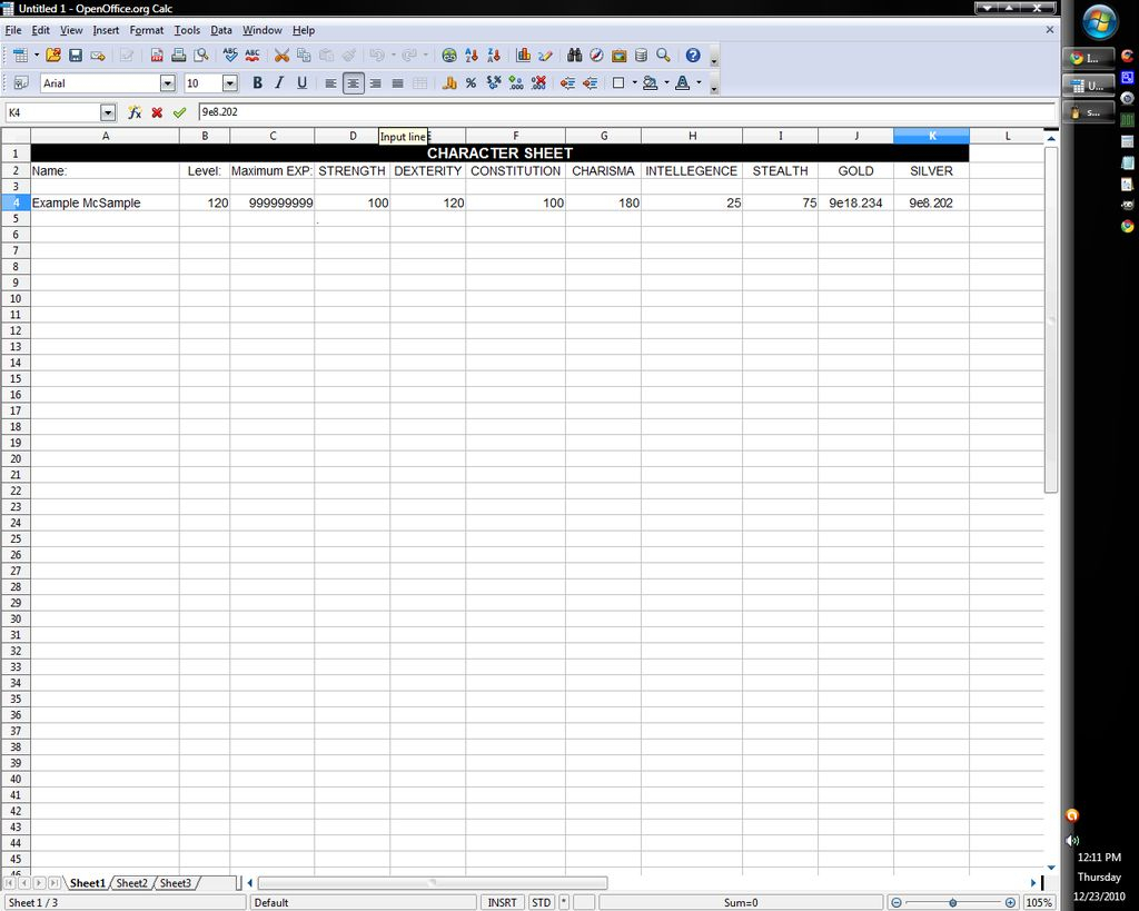 Open Office Spreadsheet Inside How To Create A Printable Character Sheet On Open Office Spreadsheet