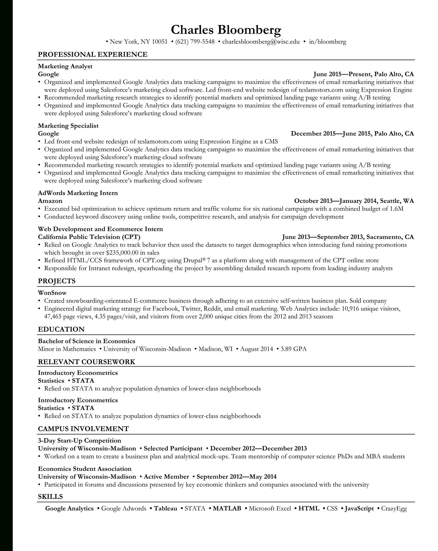 open to buy spreadsheet example for rezi ats optimized