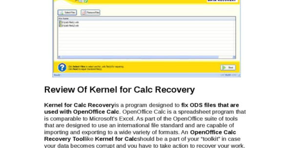 Openoffice Spreadsheet Recovery Throughout Kernel For Calc Recovery Reviewyongqiang Xie  Issuu Openoffice Spreadsheet Recovery Google Spreadsheet
