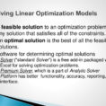 Optimization Modeling With Spreadsheets 3Rd Edition Solutions Inside Chapter 13 Linear Optimization  Ppt Download