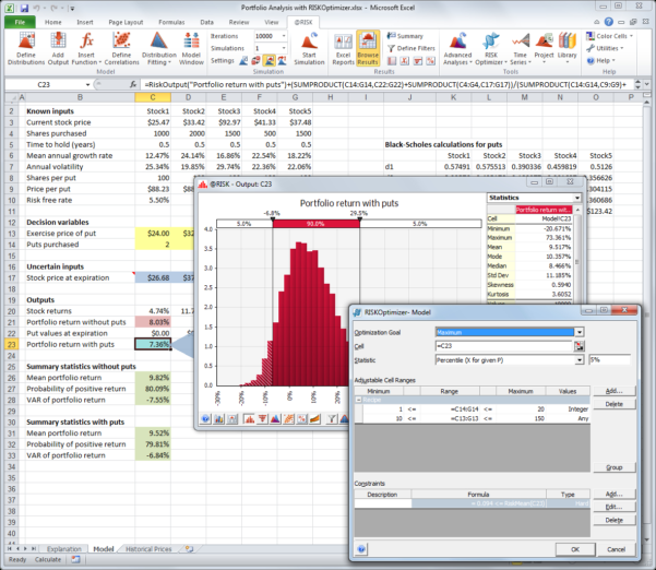 Optimization Modeling With Spreadsheets Solutions Manual Inside Riskoptimizer: Monte Carlo Simulation With Optimization Software