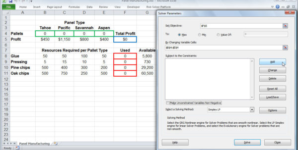 Optimization Modeling With Spreadsheets Solutions Manual Intended For Excel Solver Tutorial  Stepstep Easy To Use Guide For Excel's