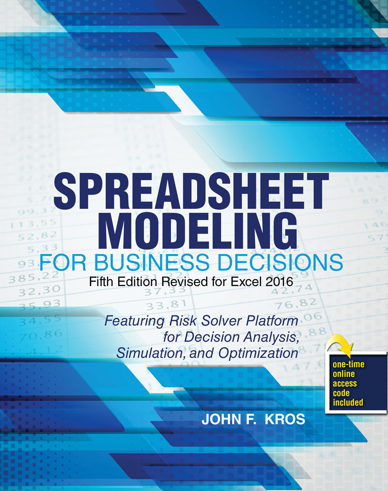 Optimization Modeling With Spreadsheets Solutions Manual Intended For Spreadsheet Modeling For Business Decisions  Higher Education