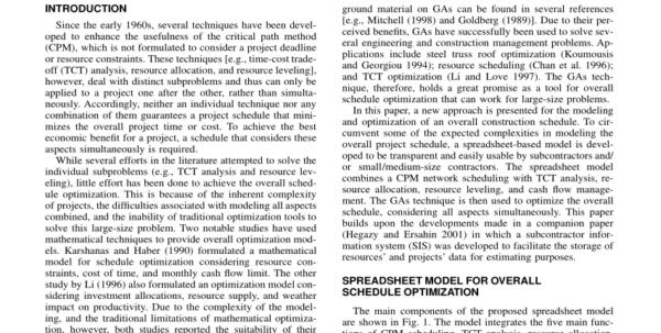 Optimization Modeling With Spreadsheets Solutions Manual With Pdf Simplified Spreadsheet Solutions. Ii: Overall Schedule Optimization