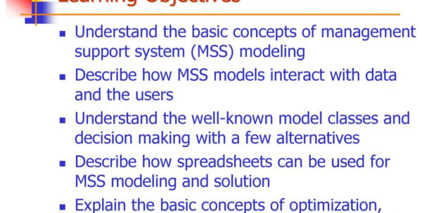 Optimization Modeling With Spreadsheets Solutions Pertaining To Chapter 4: Modeling And Analysis  Ppt Download