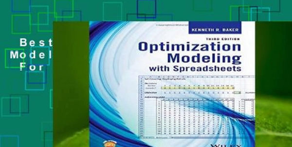 Optimization Modeling With Spreadsheets With Best Ebook Optimization Modeling With Spreadsheets For Kindle