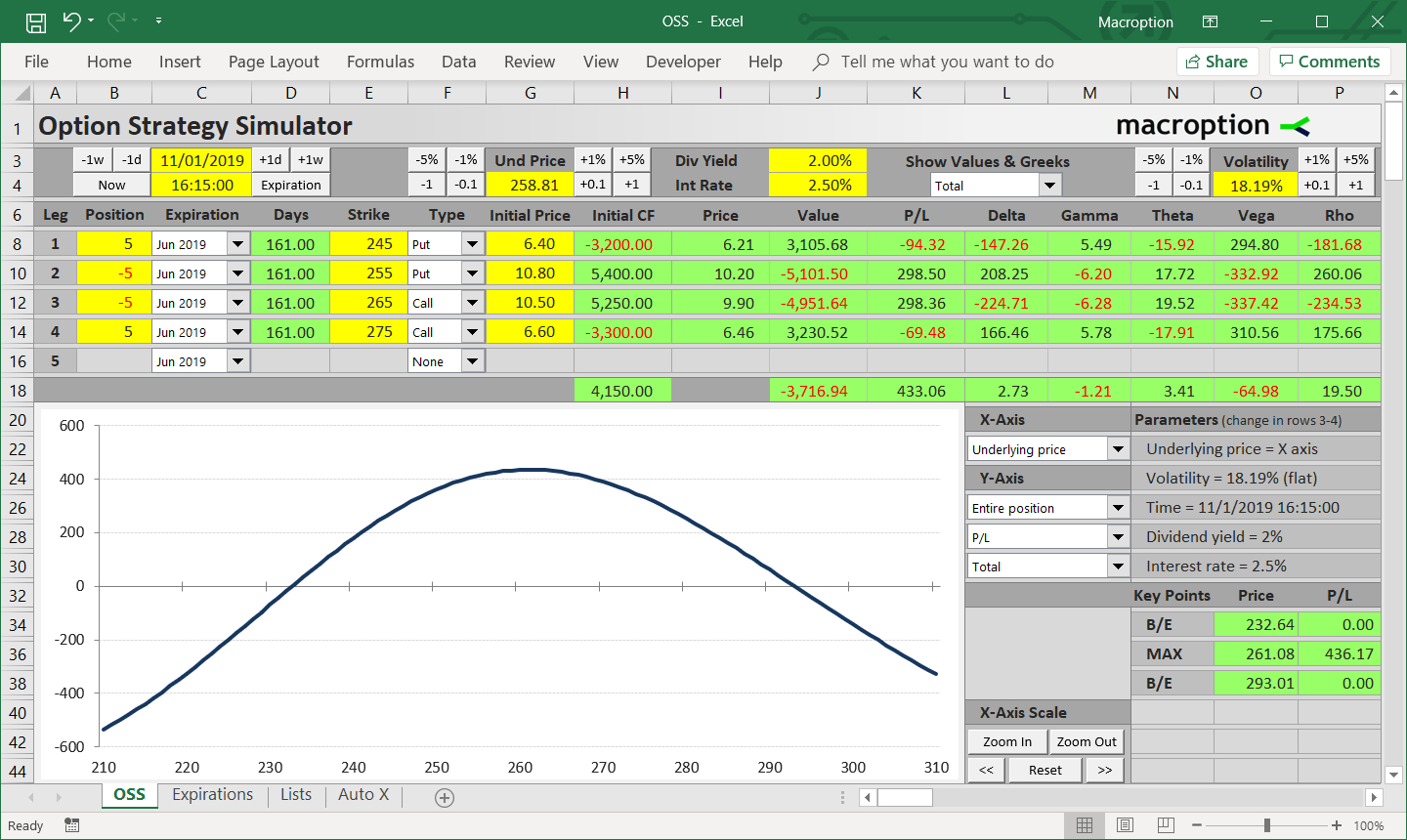 Stock options calculator excel