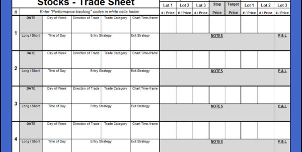 Options Trading Journal Spreadsheet Throughout Options Trading Journal Spreadsheet Download Excel Template