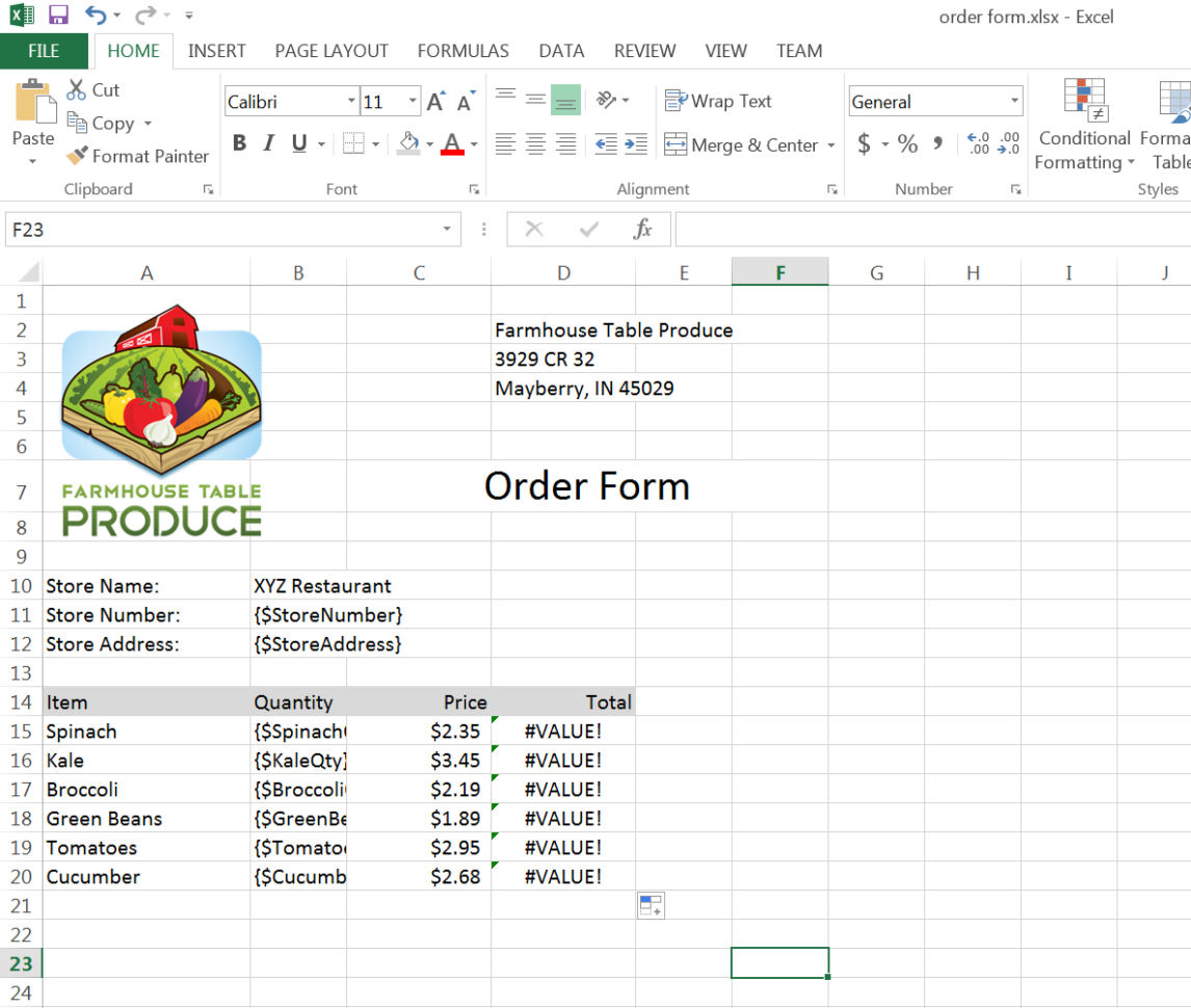 Order Spreadsheet For Generate An Order Form Spreadsheet From Devicemagic  Webmerge
