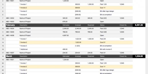 Organize Bills Spreadsheet Regarding Project Tracker Spreadsheet Job Book A Way For Designers To Organize