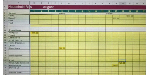 Organizing Bills Spreadsheet Throughout Eceadfaedff Inspirational Organize Bills Spreadsheet  Resourcesaver