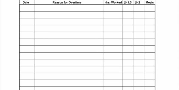 Overtime Spreadsheet Throughout Overtime Overtime Spreadsheet Template Record Sheet Free Forms And