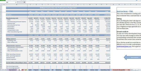 Owner Builder Budget Spreadsheet Regarding Construction Budget Template  Cfotemplates