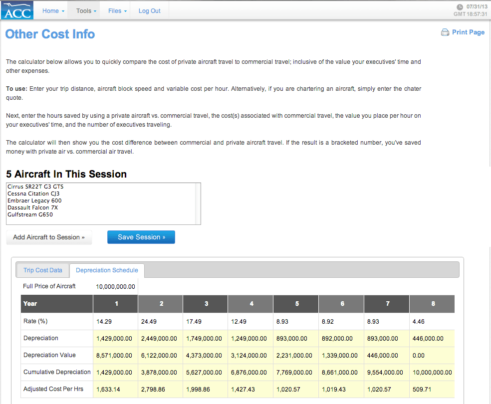 Owner Builder Cost Spreadsheet Intended For Aircraft Cost Calculator  Fast, Accurate Ownership And Operating Costs