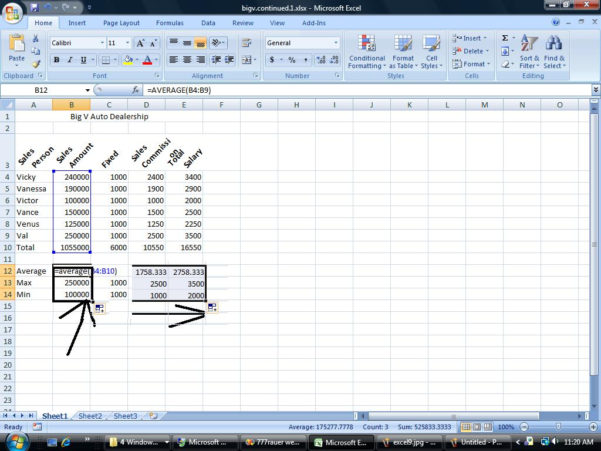 Owner Operator Excel Spreadsheet Intended For Marc Rauer's Community College Of Phila Course Pages For Ssii'11