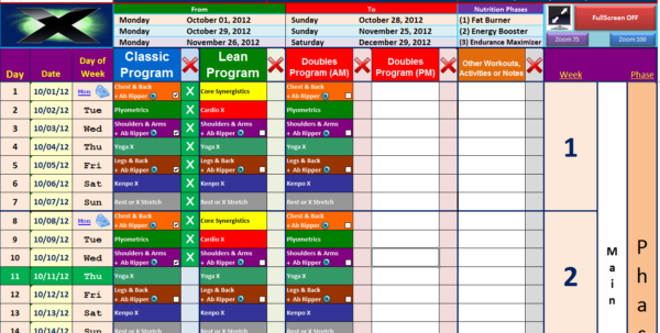 P90X Excel Spreadsheet In P90X Spreadsheet For Mac  Homebiz4U2Profit