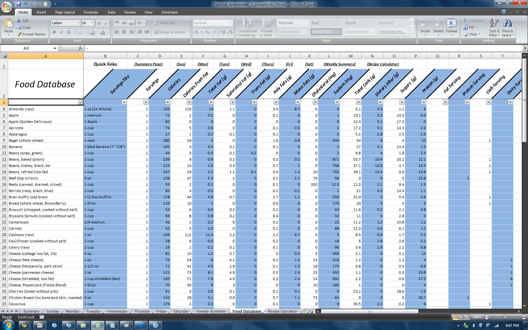 P90X Spreadsheet With Regard To P90X Spreadsheet  Homebiz4U2Profit