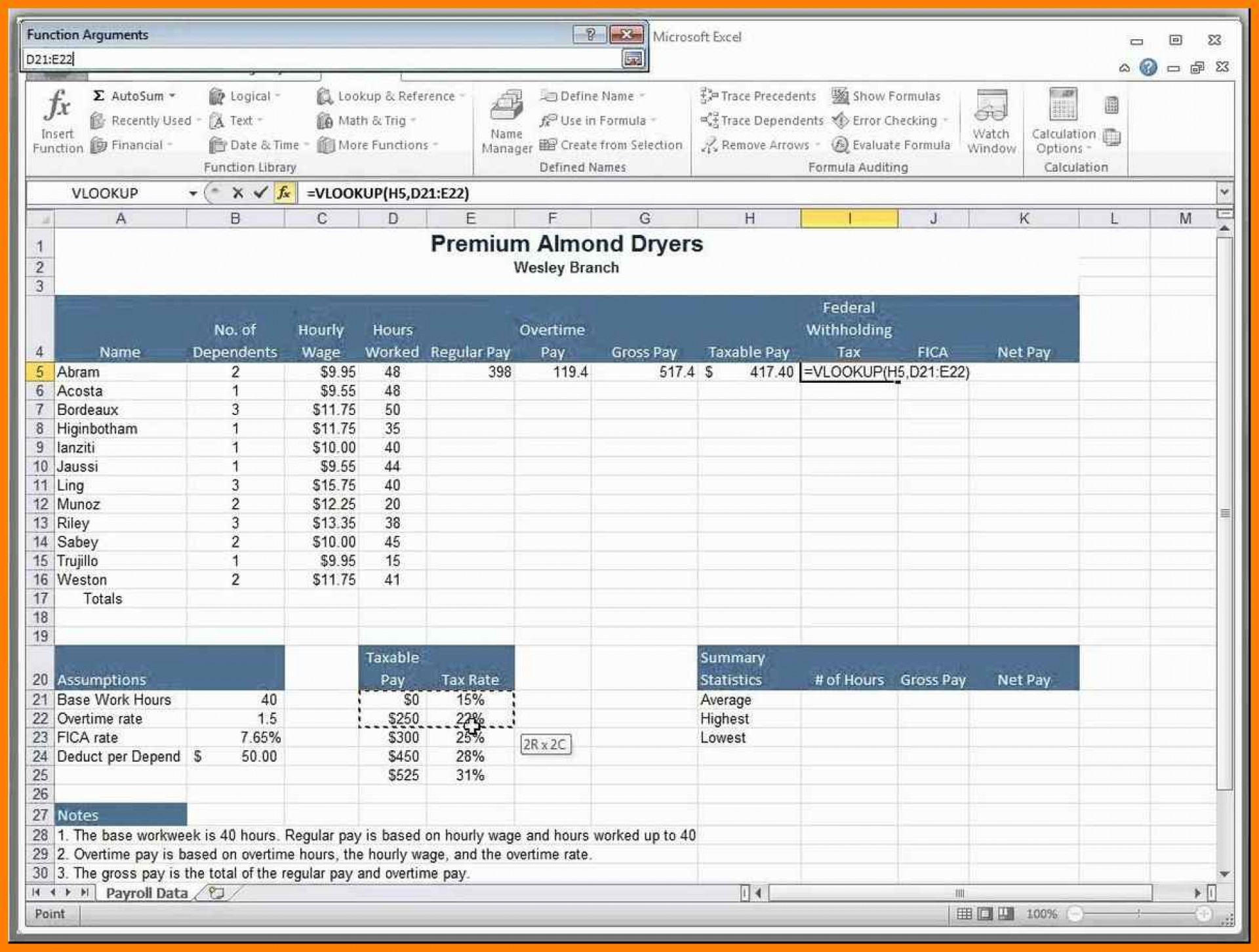 paid time off accrual spreadsheet