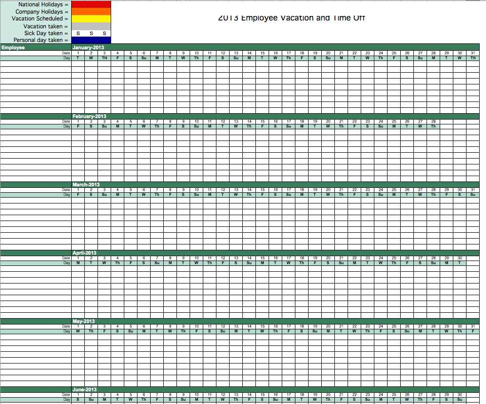 Paid Time Off Tracking Spreadsheet Intended For Spreadsheet Employee Time Off Tracking Paid And Tracker Template