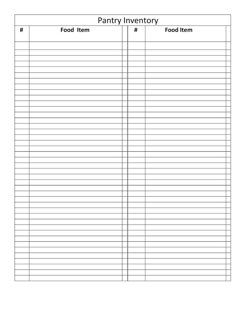 Pantry Inventory Spreadsheet With Pantry Inventory Template Wwwtopsimagescom Excel Fresh Food Storage