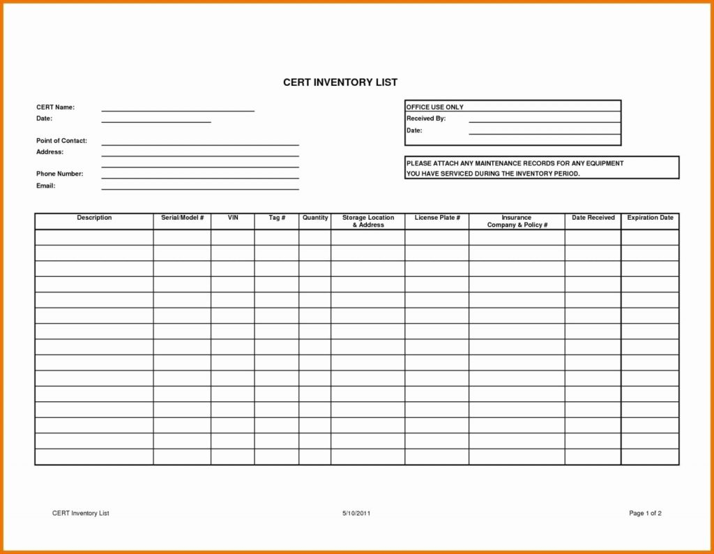 Parts Inventory Spreadsheet Intended For Chemical Inventory List Sample Lovely Excel Stock Control Template